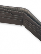 alternate image of Black Leather Lineage Horizontal Wallet