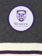 alternate image of Charcoal Western University Scarf