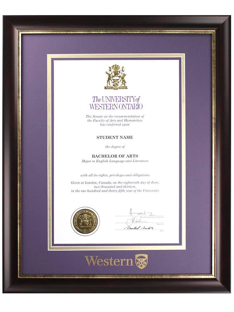 alternate image of richmond diploma frame - Ecu Diploma Frame