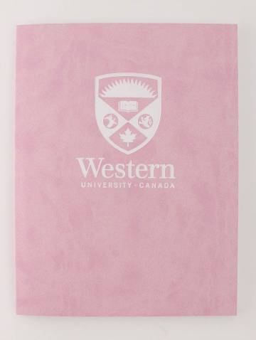 alternate image of Euro Journal Pink with Stacked Logo In White