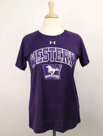 alternate image of Purple Under Armour Western Mustangs T-Shirt