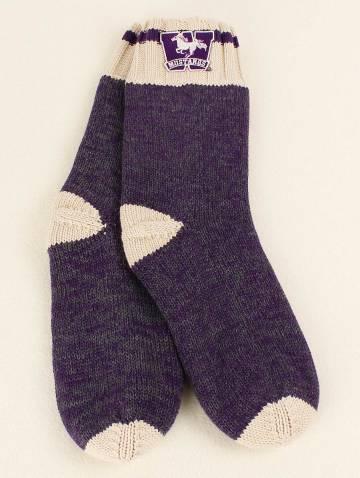 alternate image of Dark Purple Work Sock Mustangs Knit Socks