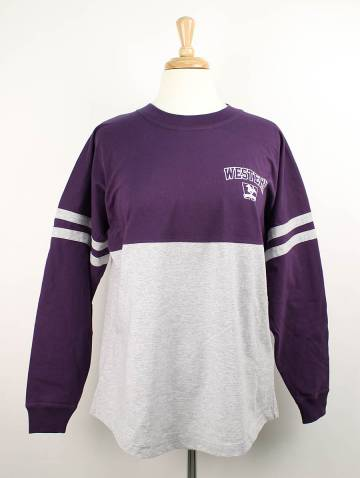 alternate image of Purple and Grey Western Mustangs Pompom Jersey