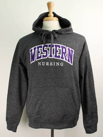 alternate image of Charcoal Pepper Western Nursing Faculty Hood