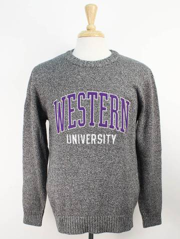 alternate image of Charcoal Marled Western Sweater