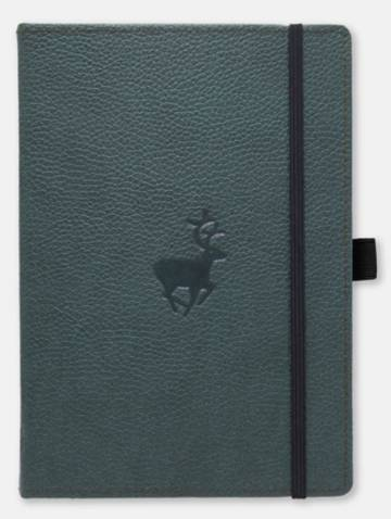 alternate image of Dingbats Wildlife Green Deer Dotted Notebook