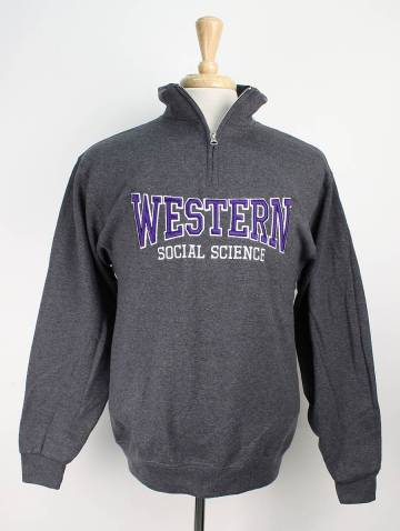 alternate image of Charcoal Western Social Science Faculty 1/4 Zip
