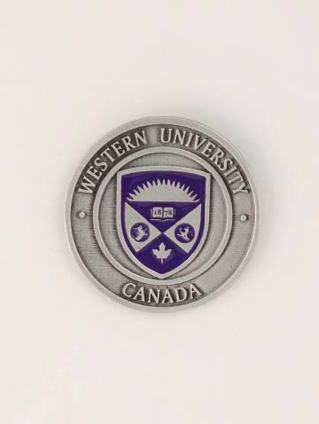 alternate image of Pewter Western University Circular Magnet