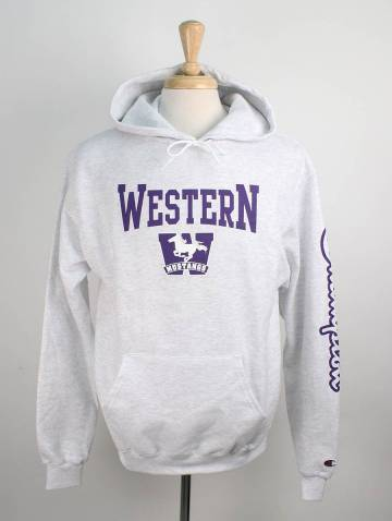 alternate image of Silver Western Mustangs Champion Hood