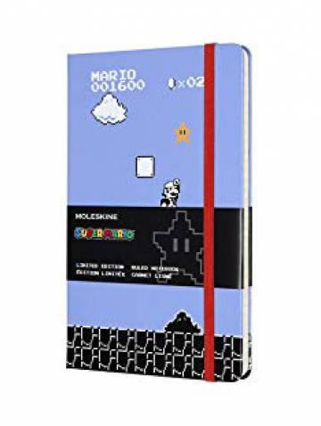 alternate image of Super Mario Ruled Notebook Large Blue