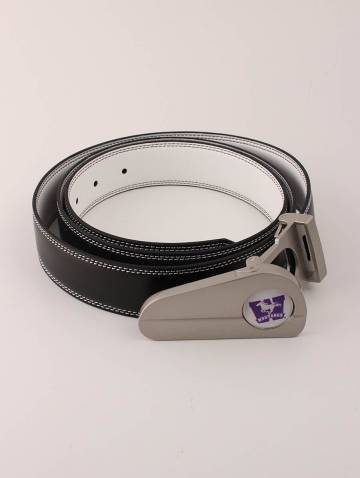 alternate image of Black/White Mustangs Golf Belt