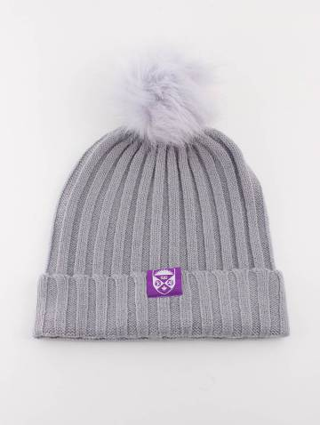 alternate image of Grey Crest Cable Knit Toque