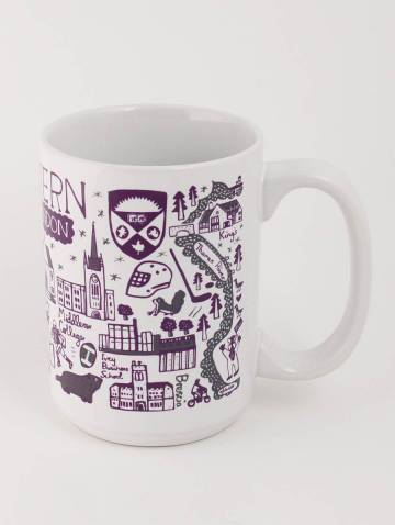alternate image of White Western Mug by Julia Gash