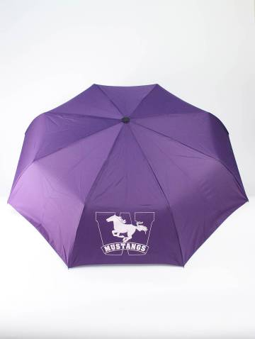 alternate image of Purple Mustangs Telescopic Umbrella