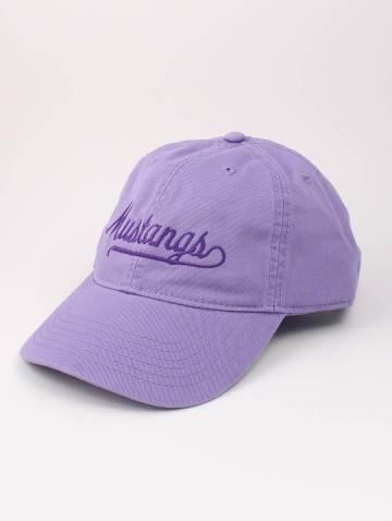 alternate image of Lavender Mustangs Script Hat