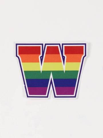 alternate image of W Rainbow Sticker