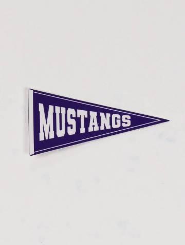 alternate image of Mustangs Pennant Sticker