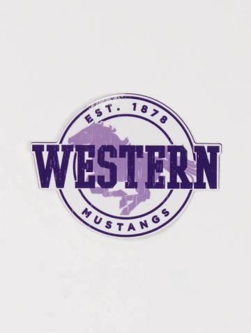 alternate image of Western Mustangs Est 1878 Sticker