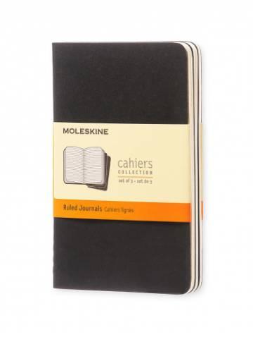 alternate image of Cahier Ruled Pocket Black Soft  -Set Of 3