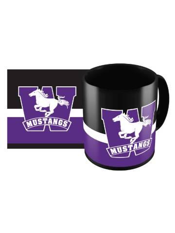 alternate image of Black Mustangs Sublimated Mug