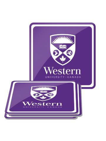 alternate image of Purple Western Square 4 Pack Coasters