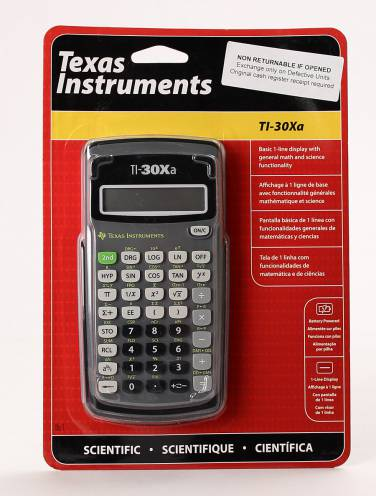 image of Ti-30Xa Calculator Scientific Battery Powered