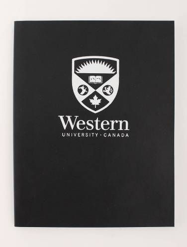 image of Euro Journal Black with Stacked Logo In White