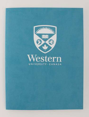 image of Euro Journal Aqua Blue with Stacked Logo In White