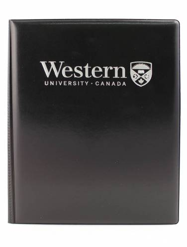 image of Black Western Univeristy Castillian Pad Holder