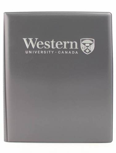 image of Grey Western University Castillian Pad Holder