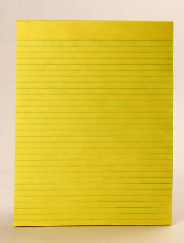 image of Fig Pad 5/16 Ruled Bond Canary 80 Sheets 8 3/8 X 10 7/8 Inch