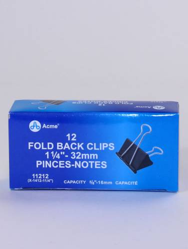 image of Fold Back Clip 1.25  12 Per Box