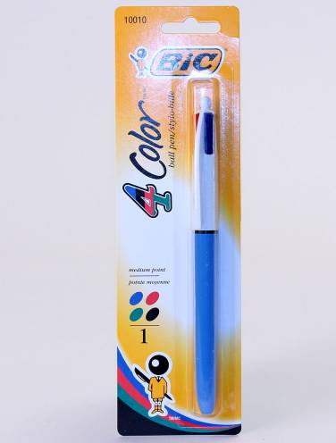 image of Bic Four Color Pen Blue Green Black Red                  57d