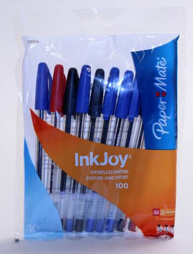 image of Papermate 100 Stick Pens 10 + 5 Asst Tbd