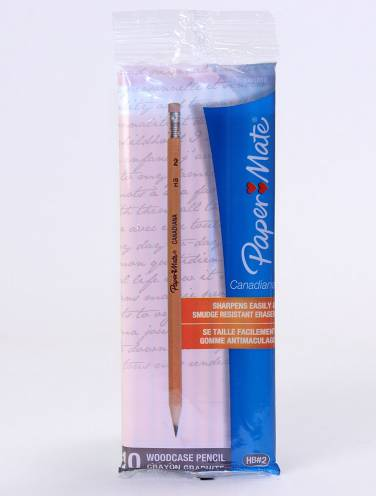 image of Pencils Canadiana Hb By Papermate 10 Per Bag