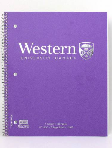 image of Purple Western University 1 Subject Notebook