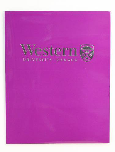 image of Twin Pocket Purple Folder with Silver Logo