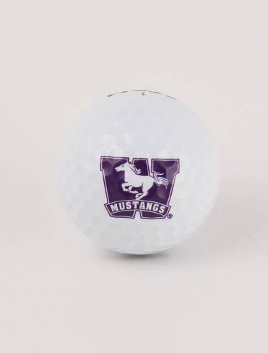 image of White Mustangs Single Golf Ball