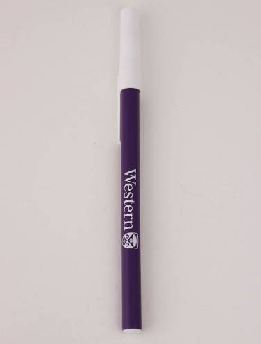 image of Purple Barrel With White Cap White Imprint Western/Crest