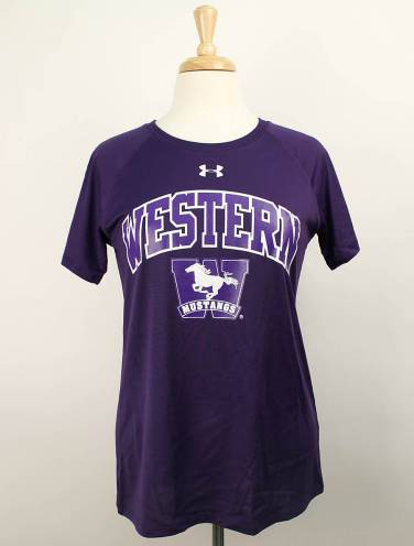 image of Purple Under Armour Western Mustangs T-Shirt