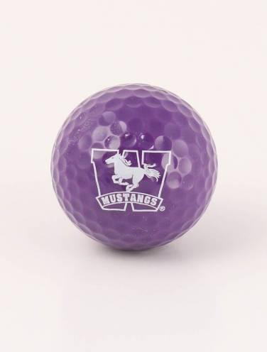image of Purple Mustangs Single Golf Ball
