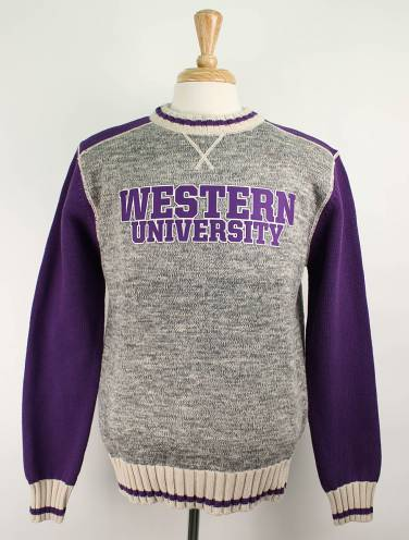 image of Salt & Pepper Western University Crew Neck Sweater