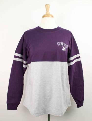 image of Purple and Grey Western Mustangs Pompom Jersey
