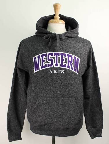 image of Black Salt & Pepper Western Arts Hood