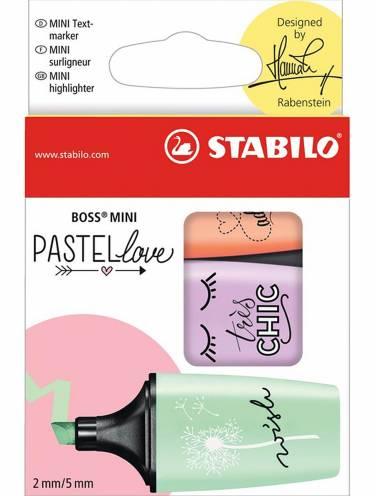 image of Stabilo Boss Mini Pastel Highlighter 3/Pk