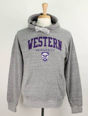 image of Grey Western University Triblend Hood