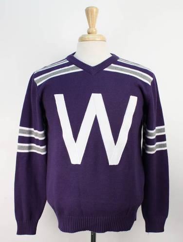 image of Purple Western Vintage Football Sweater