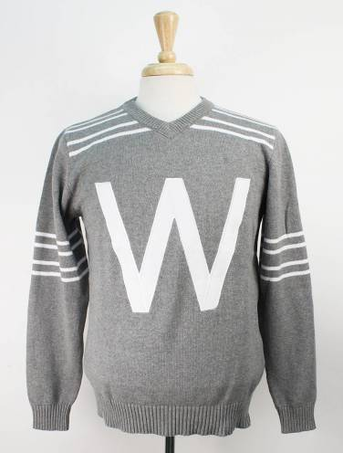 image of Grey Western Vintage Football Sweater