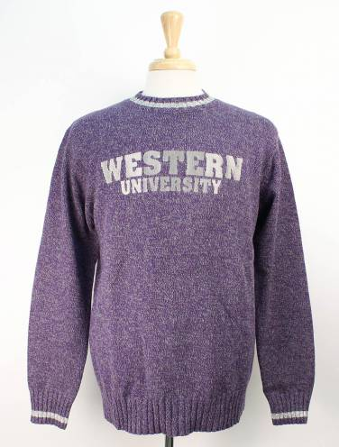 image of Purple Western University Sweater