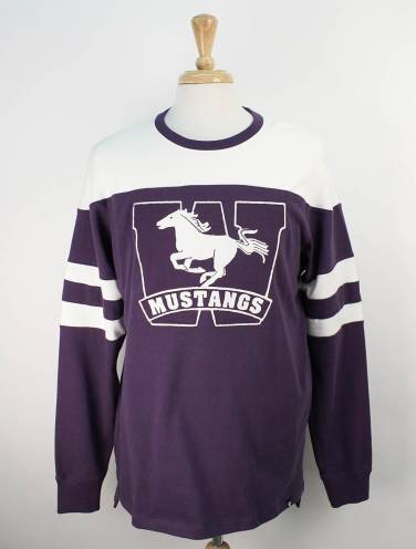 image of Purple Mustangs Long Sleeve Shirt